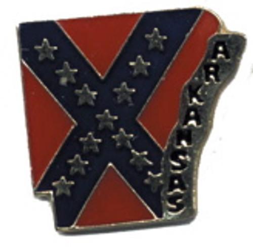 Arkansas Confederate State flag Lapel Pin