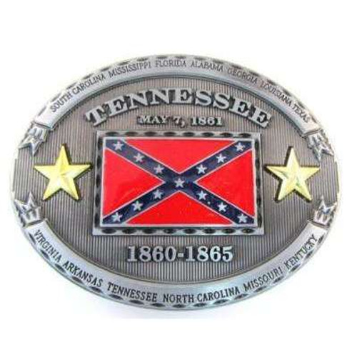 Tennessee Confederate Flag belt buckle