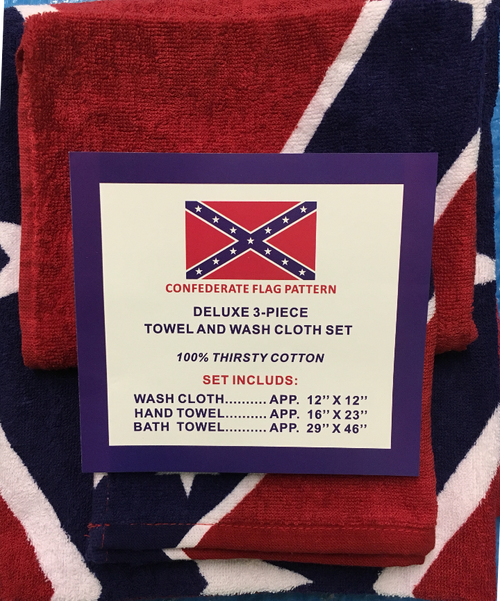 "Confederate battle flag ""BATH TOWEL SET"""