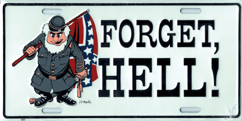Confederate CSA Forget Hell License Plate