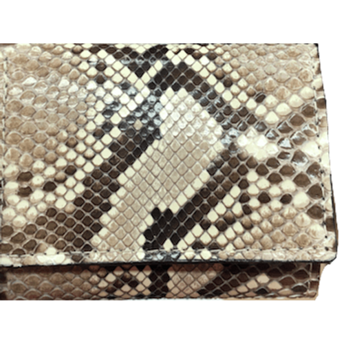 Python Tri-Fold Leather Wallet
