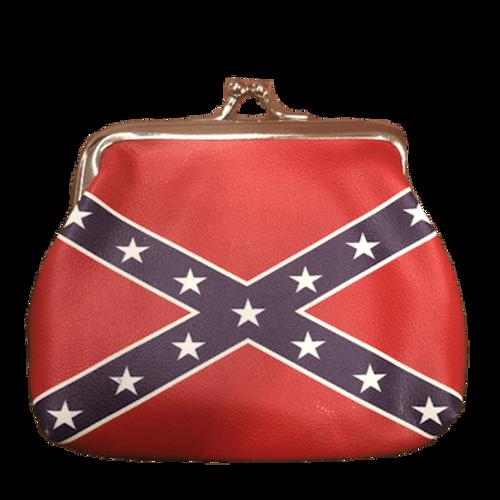 Confederate Flag Coin Purse