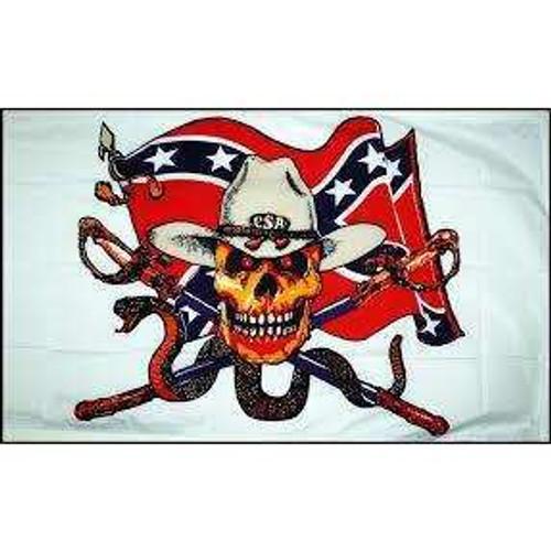 Rebel with snake Flag