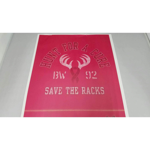 Hunt For A Cure Save The Racks Ladies T-Shirt
