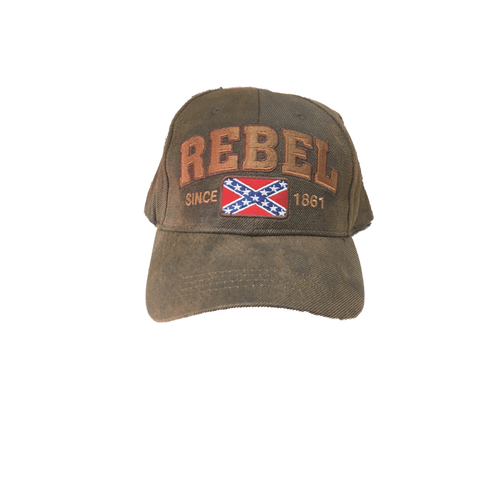 """Rebel"" Confederate Flag Vintage Hat"