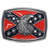 Confederate Flag With Eagle Belt Buckle