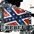 """Rebel"" Confederate Flag Belt Buckle"