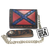 Confederate Flag Western Leather Wallet (Brown)
