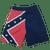 """Rebel"" Confederate Flag Board Shorts"