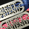 Wholesale BFF best friends leather and rope bracelet.
