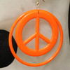 Wholesale peace sign hoop earrings