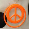 Wholesale peace sign hoop earrings