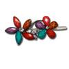 Flower gem and stone barrette.