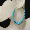 Blue diamond bead earring