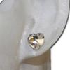 Heart diamond stud earrings