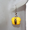 Kids yellow butterfly earring