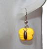 Kids yellow butterfly earring