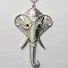 Silver elephant necklaces