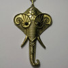 Antique brass elephant necklace