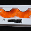 #7 Orange feather eyelashes