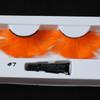 #7 Orange feather eyelashes