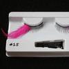 #15 Hot pink long feather eyelashes