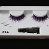 #16 Purple striped feather eyelashes