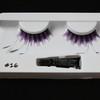 #16 Purple striped feather eyelashes