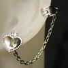 Heart ear cuff set