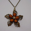 Brown flower necklace