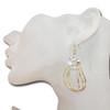 Golden hoop earrings