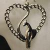 Wholesale cat on heart earrings