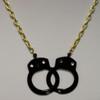 Black handcuff necklace