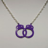 Purple handcuff necklace