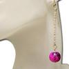 Hot pink marble earrings