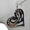 Wholesale metal hear earrings