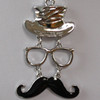 Wholesale mustache top hat necklace