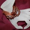 Mocha pearl bracelets