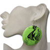 Green fish earrings