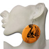 Orange fish earrings