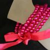Hot pink kids pearl bracelet