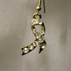 Gold charity or awareness ribbon earrings
