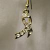 Gold charity or awareness ribbon earrings