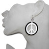 Wholesale peace sign earrings