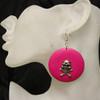 Hot pink skull rings