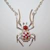 Women's spider necklace