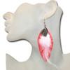 Girls feather earrings
