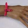 Pink zipper bracelets