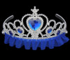 Blue princess tiara