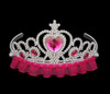 Hot pink princess tiara